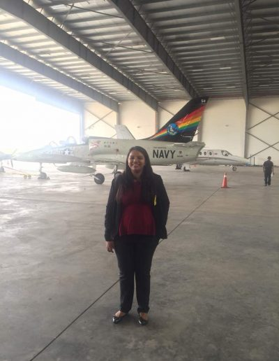 Leona at the hangar of the rain maker!